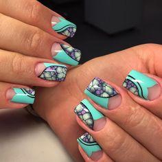 Клиентам не даёт покоя новая техника WATERWAY. Дизайн ногтей гель-лаками Nanlac. #nanoprofessional #nanlac #waterway #коррекцияногтей