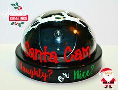Santa Cam- Fake Santa Security Camera- Santa Surveillance with Real Flashing Red Light! Christmas Crafts For Gifts, Christmas Art, Christmas Projects, Christmas Ornaments, Christmas Ideas, Christmas Decorations, Christmas 2019, Holiday Ideas, Santa Cam Ornament