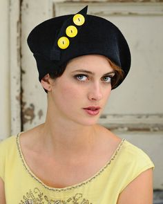 Black Cloche- Made to order