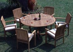 Ways To Decorate A teak outdoor furniture florida made easy Teak Outdoor Furniture, Patio Furniture Sets, Vintage Furniture, Rustic Furniture, Painted Furniture, Furniture Design, Patio Dining Chairs, Outdoor Dining, Arm Chairs
