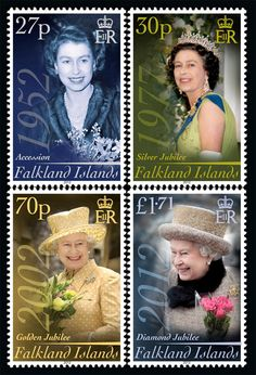 Queen Elizabeth II on stamps from the Falkland Islands