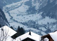 Looking towards Lauterbrunne from Wengen, Switzerland Wengen Switzerland, Seize The Days, Yearly, Countries Of The World, Most Favorite, Luxury Travel, Winter Wonderland, Adventure Travel, Europe