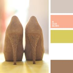 Built on a combination of soft warm colors. Delicate brown, olive and pink colors, combining together, give an idea of the color scheme for the wedding. The palette is appropriate as the attire of the bride and groom in the summer suit.  The color scheme can be used to design solar bedroom or dining