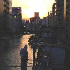 浅草橋日の入り
