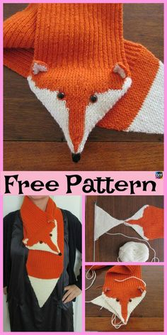 Discover thousands of images about 5 Cutest Knitting Fox Scarf Free Patterns Fox Scarf, Hand Knit Scarf, Baby Scarf, Diy Crafts Knitting, Knitting Projects, Sewing Projects, Intarsia Knitting, Baby Knitting, Free Knitting