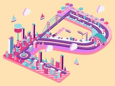 Isometric Dribbble Invite by Sara Geci - Dribbble