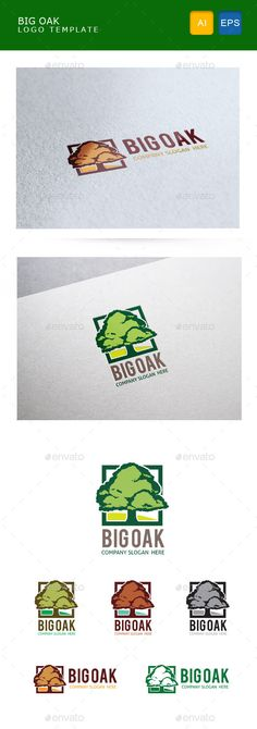 Big Oak — Vector EPS #classic #hill • Available here → https://graphicriver.net/item/big-oak/10692054?ref=pxcr