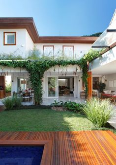 32 Trendy Home Exterior Styles Landscaping Dream Home Design, My Dream Home, Style At Home, Future House, My House, Dream House Exterior, Tropical Houses, House Goals, Home Deco