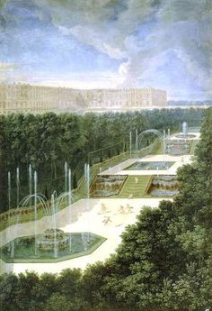 Historische Ansicht von Versailles - der französische Garten schlechthin!