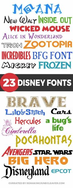 NEW free disney fonts