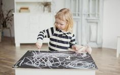 Kids chalkboard table, perfect for aspiring artists