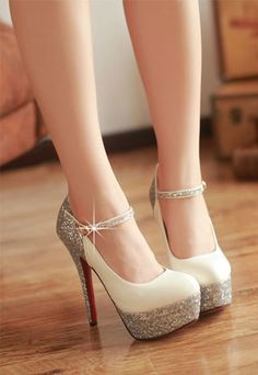 Paillette High-heeled Shoes