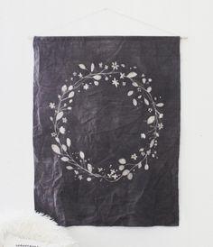 DIY batik dye wall hanging, by Kelli Murray