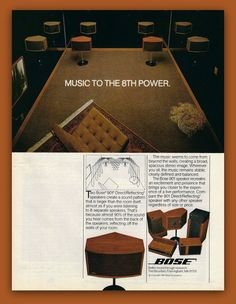 Bose 901 stereo speakers vintage magazine ad by catchingcanaries