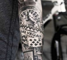 Las Vegas tattoo by Oscar Akermo
