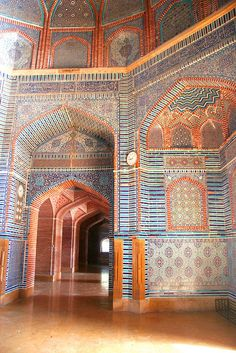 View under the domes – Thatta Mosque:: by Zahid Ali Khan - Mughal Architecture