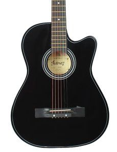 Juarez Acoustic Guitar 38 Inch Cutaway 038c With Bag Strings Pick And Strap Black Amazon In Musical Instruments Guitar Acoustic Acoustic Guitar