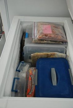 Deep Freezer Organization Tips @Jessica Rinne  It's a start I guess, but I really thought there'd be more...