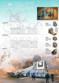The winning project for the San Sebatián 2016 information pavilion - Open . - The winning project for the San Sebatián 2016 information pavilion – Open … - Wallpaper Architecture, Poster Architecture, Architecture Concept Drawings, Landscape Architecture, Landscape Design, Architecture Design, Architecture Board, Architecture Background, Garden Design