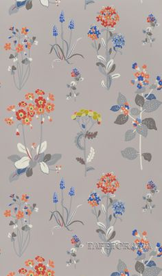 wallpaper 71846: Willowbrook Grey from Jane Churchill - Tapetorama