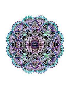 This mandala print will bring a touch of joy and relaxation to whatever space you place it in. Available in square (6x6, 8x8, 10x10, 12x12) or rectangular (5x7, 8x10, 11x14, 13x19) sizes. Print is on
