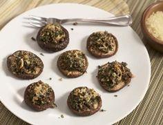 Arugula Pesto Stuffed Shiitake Mushrooms