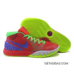 c1cb39f0bc9c Nike Kyrie 1 Red Fluorescent Green Basketball Shoes Lastest