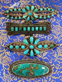 Early Zuni Petit-Point Turquoise Bar Pin – Yourgreatfinds