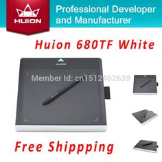59.49$  Buy here - http://alivec.worldwells.pw/go.php?t=32287109921 - Factory Price Huion 680TF Tablets 8-inch Professional Digital Graphics Pen Tablet USB Signature Pads Kids Drawing Boards White 59.49$