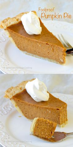 Easy Foolproof Pumpkin Pie | You'll love how easy this delicious pumpkin pie is! Everyone needs a great pumpkin pie recipe in their arsenal - American Heritage Cooking: