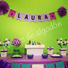 Mesa dulce cumpleaños de Laura.