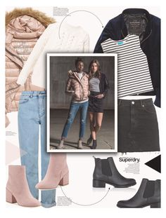 """""""The Cover Up – Jackets by Superdry: Contest Entry"""" by jade-714 ❤ liked on Polyvore featuring Fuji, Topshop, Sam Edelman, Diesel, M.i.h Jeans, Superdry and Barneys New York"""