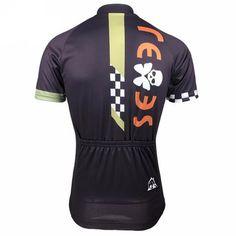 Skull Butterfly Black Cycling Jersey Back