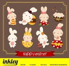 Easter Bunny Clipart Cute Clipart Easter Clipart Fun