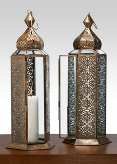 i filled these beautiful antique lanterns with flowers