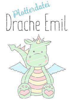 Süße Plotterdatei Drache Emil von Juno Design Freebies, Smurfs, Embroidery, Etsy, Kids, Design, Crafts, Fictional Characters, Facebook
