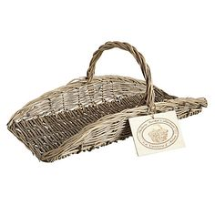 Buy Fallen Fruits Willow Flower Trug Basket from our Boxes & Baskets range at John Lewis & Partners. Willow Flower, Fallen Fruits, Applique Templates, Beautiful Hands, Flower Arrangements, Wicker, Hand Weaving, Baskets, Gardening