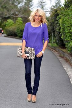 My two loves - purple and leopard!
