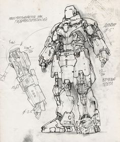 Whiplash Mark II Armour by James Carey for. Robot Concept Art, Armor Concept, Robot Art, Robots, Reactor Arc, Iron Man Drawing, Iron Man Art, Iron Man Wallpaper, Iron Man Avengers