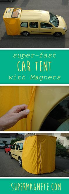 & supermagnete Simply make a car tent yourself? & supermagnete The post Simply make a car tent yourself? & supermagnete appeared first on Pink Unicorn. Auto Camping, Minivan Camping, Diy Camping, Camping Ideas, Camping Hacks, Outdoor Camping, Camping Store, Camping Survival, Car Camping Tent