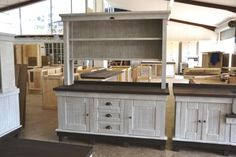 Milestone Kitchens Free Standing Units. Custom made Coffee Station. From the African Allure Range.