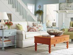 Sofa by Bassett Furniture; color scheme (like my kitchen)