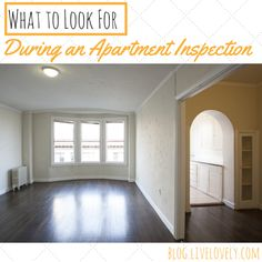 Before you move into your apartment, spend 10 minutes with your landlord checking out the unit. This apartment inspection could save you money in the future!