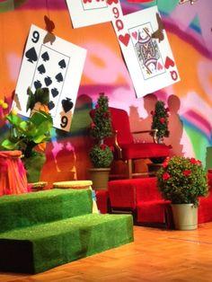 Alice in Wonderland stage set