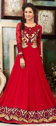 Beautiful long Anarkali Suit from Shradha Kapoor's Bollywood Salwar kameez Collection