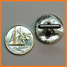 1a08b22c32b7 Cayman Islands Sailing ship, Coin Cufflinks - Unique 2-Toned Gold & Silver  (*Partner Link)