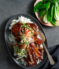Glazed pork ribs with hoisin and star anise recipe | Fast Asian recipe - Gourmet Traveller