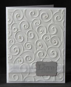 Classic white wedding or bridal shower card.