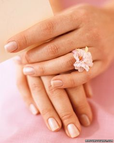 DIY flower rings