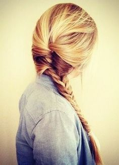 Braided ponytails are perfect for those spontaneous road trips!